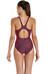 speedo Endurance10 Monogram Allover Muscleback Swimsuit Women phantom grape/pyscho red